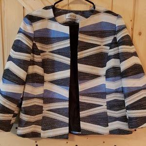 Kasper  Petite Open-Front Jacquard Jacket (8)
